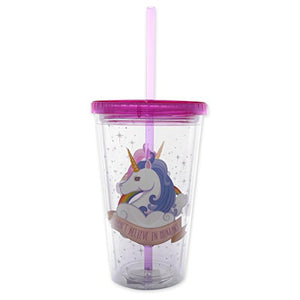 Unicorn Tumbler I DON'T BELIEVE IN HUMANS