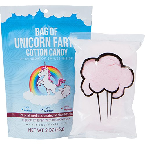Bag of Unicorn Farts (Cotton Candy) Funny for All Ages Unique Stocking Stuffer White Elephant Gag Gift for Friends, Mom, Dad, Birthday Girl, Boy