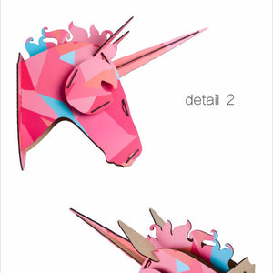 Limited New 3D Wooden Unicorn Head Wall