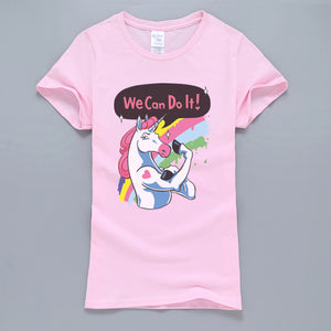 Unicorn T Shirt We Can Do It