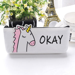 Okay Unicorn Cute Pencil Bag