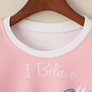 I believe in Unicorns Crop Sweatshirt