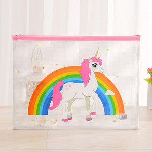 Cute A5 Transparent PVC Pencil Bag For Kids