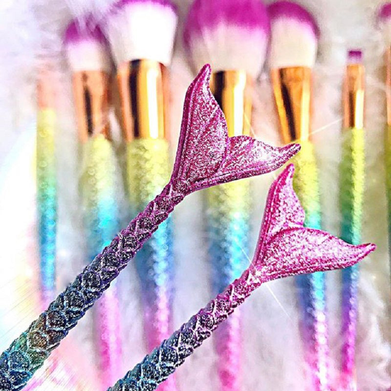 Bright, Fun and Colorful Unicorn/Mermaid Makeup Brush Sets