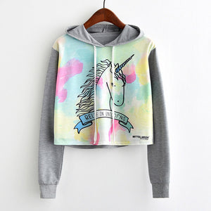 Believe in Unicorns Short Sweatshirt