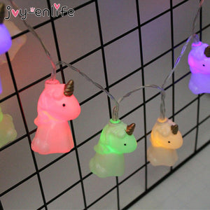 Cute Unicorn Head LED String Night Light
