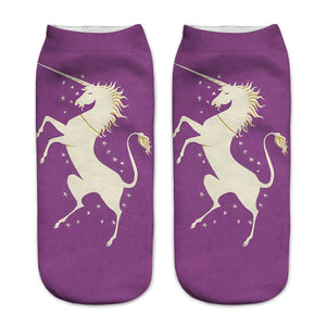 Purple Unicorn Women Socks