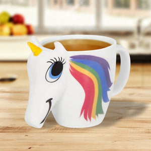 Unicorn Color-Changing 3D Ceramic Coffee Mug