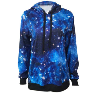 bts 3D printed Star sky Romantic Women hoodies Loose Casual Long Sleeve unicorn Hoodie Sweatshirt Pullover Tops Coat