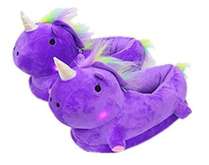 393c9a016fe Light up Adult Unicorn Slippers Novelty Comfortable Animal Home Bedroom  Plush Shoes Girls Ladies Womens Childrens