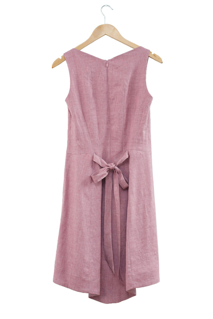 Beatrice Perry London Stock Dress Linen Wool Silk