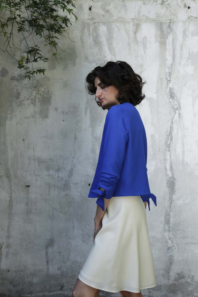 Stucco Jacket · Cobalt