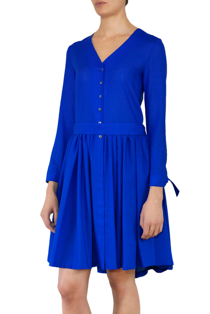 Portland Stone Shirt Dress · Cobalt