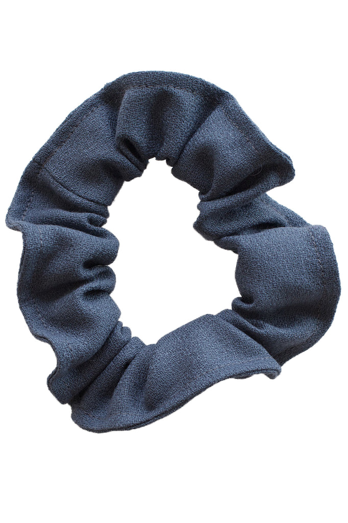 Beatrice Perry Cast Iron Scrunchie Grey Wool Crepe