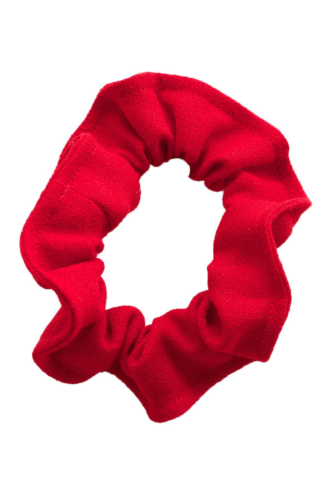 Beatrice Perry Cast Iron Scrunchie Red Wool Crepe