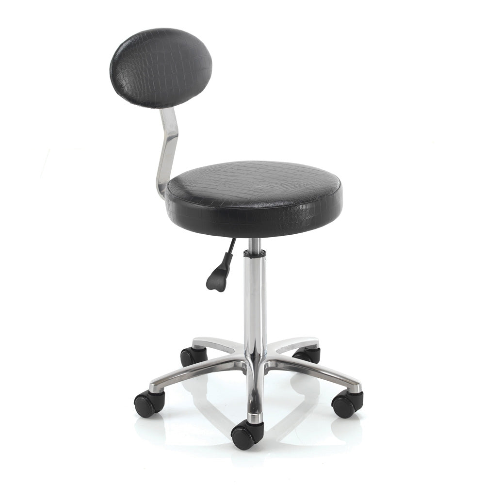 REM Cutting Stool With Backrest - Black