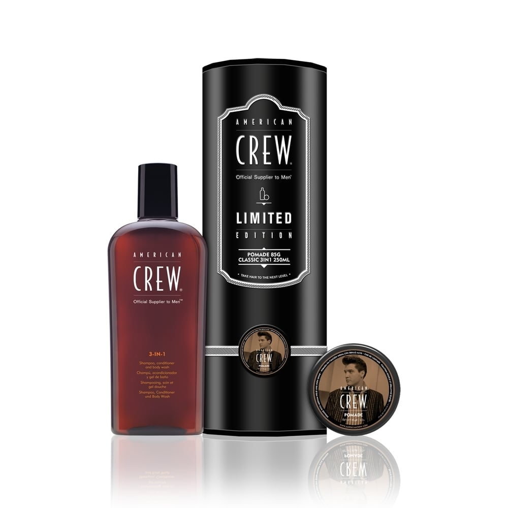 American Crew 3-In-1 250ml+ Pomade 85g