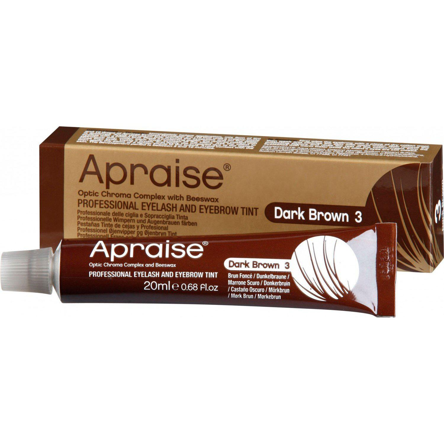 Apraise Dark Brown Eyelash & Eyebrow Tint - No.3 20ml