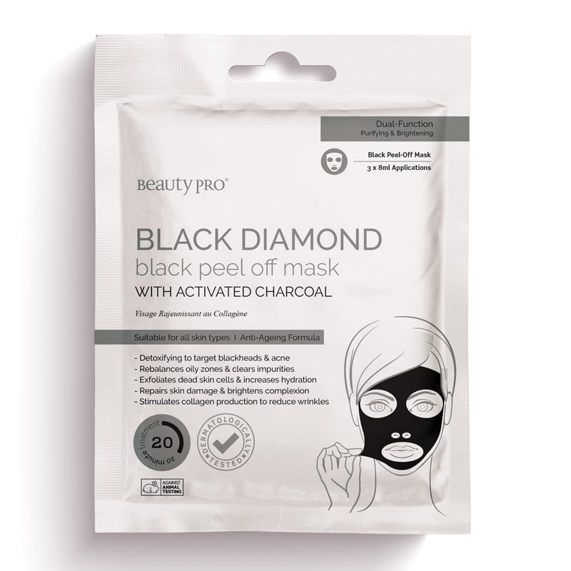BeautyPro Black Diamond Peel Off Mask 3 x 8ml