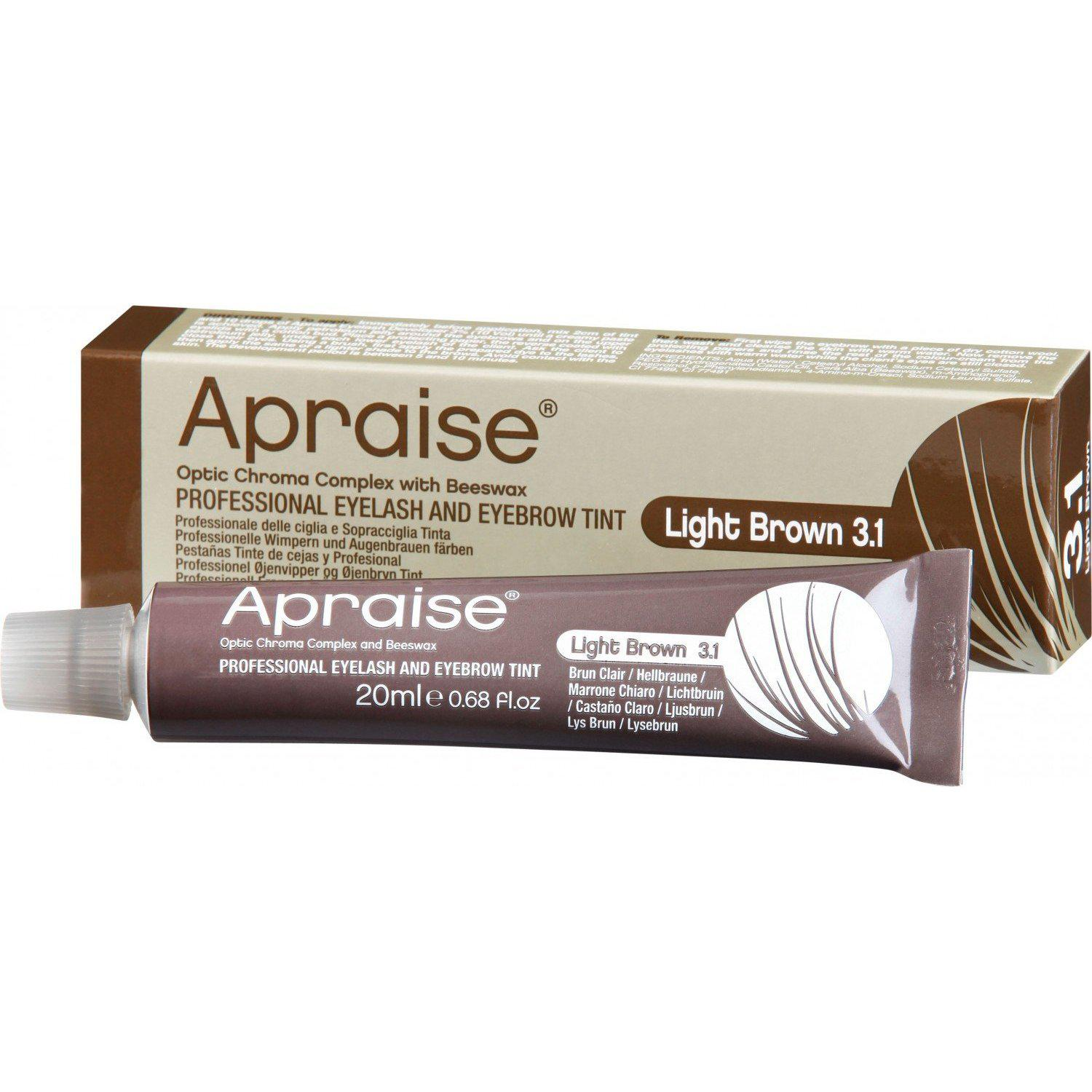 Apraise Light Brown Eyelash & Eyebrow Tint - No.3.1 20ml