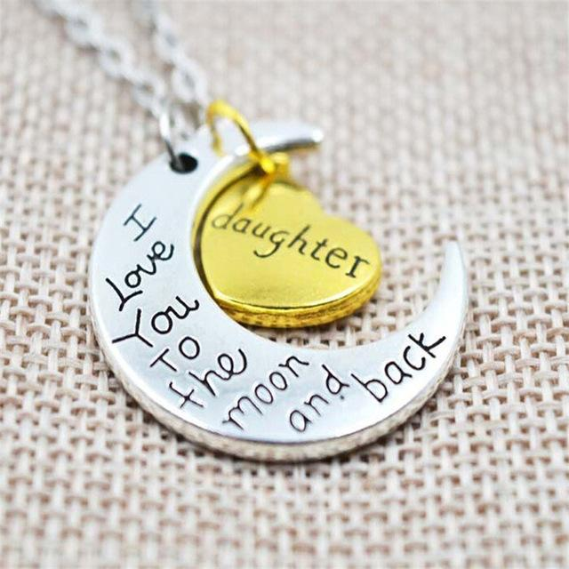 Buy New Trendy I Love You To the Moon and Back Silver Necklace