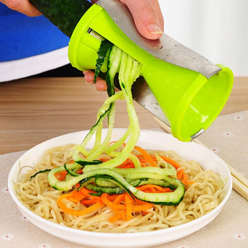 Super Easy And Time Saver 4 Blade Replaceable Vegetable Spiral Slicer Cutter