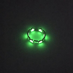 Unisex Glow In The Dark Ring Heart-shaped Glowing
