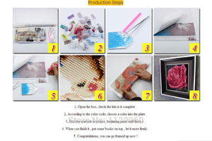 Full Needlework Diy Diamond Self Painting Kit