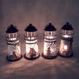 Vintage Iron Light House Candle Holder For Home Decorations