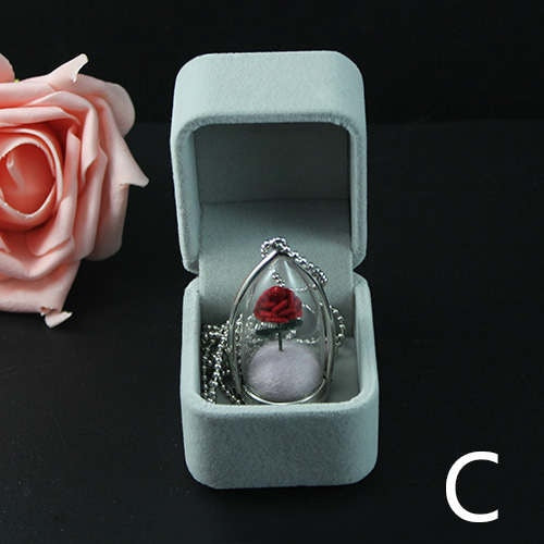 Awesome Valentine Gift Rose Terrarium Necklace