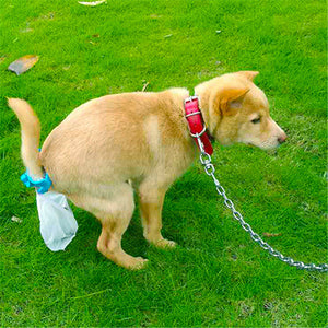 Dog Waste Poop Bag 20 Pieces Hands Free Dog Poop Collector