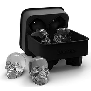 Ice Cube Tray Household Use 3D Skull Silicone 4-Block