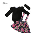 Baby Girl Black Long Sleeve Outfits Set