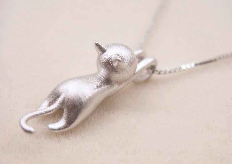 Kitty Cat New Silver Plated Tiny Cute Pendants