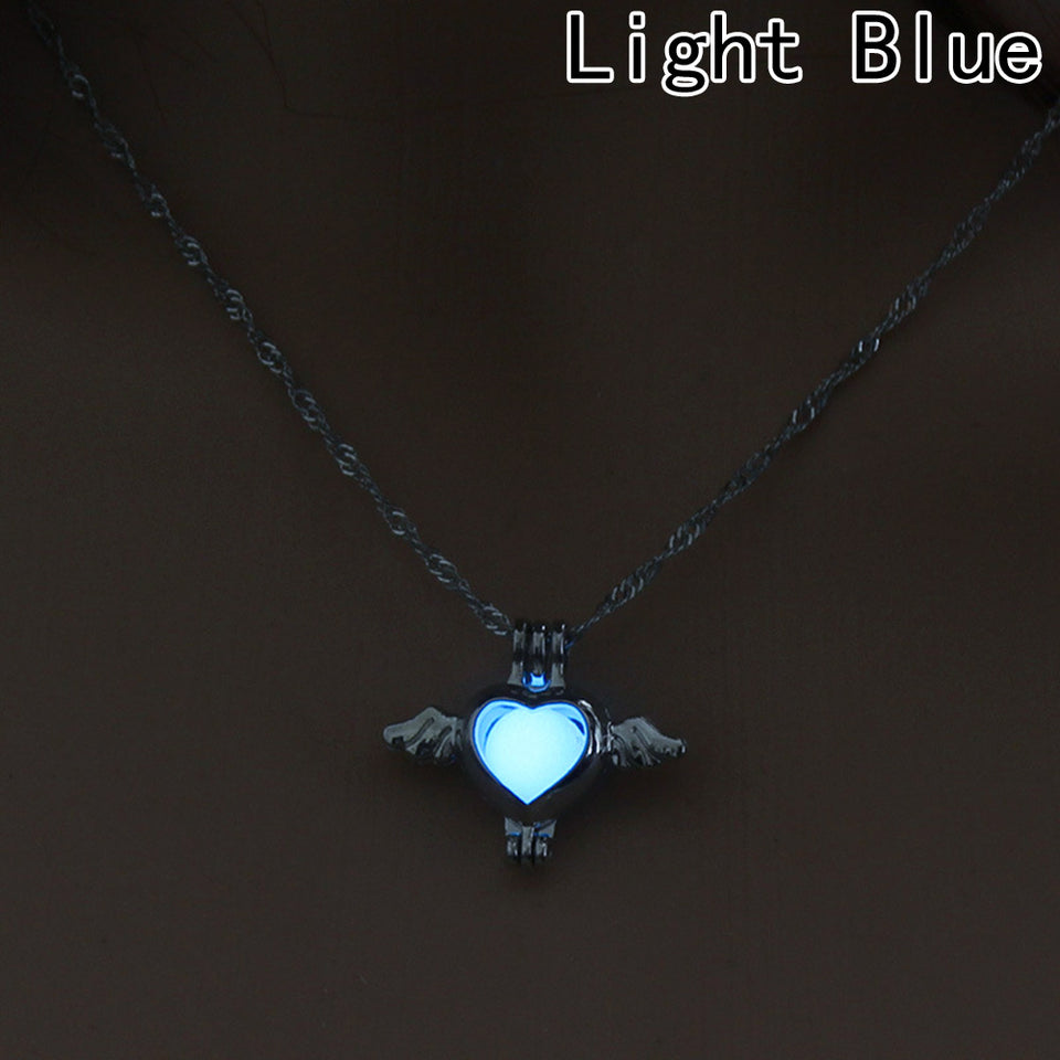 Hollow Out Heart Key Necklace