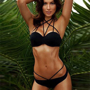 Women's Latest Black Sexy Bikini Set