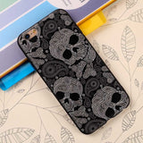 Skull head Soft Silicone Case For iPhone 7 6 6S