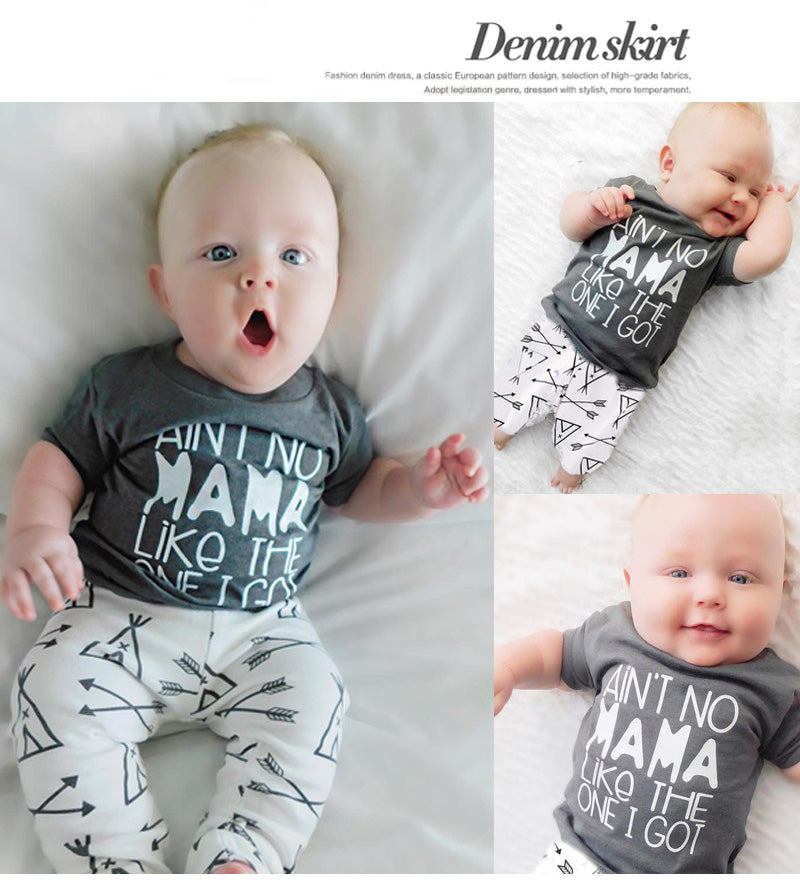 Newborn Baby Super Cool Summer Cotton Clothes Set In Short Sleeve