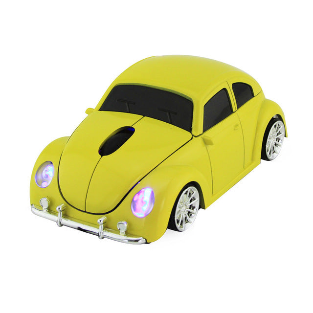 Cool Beetle Car Shape Wireless Mouse