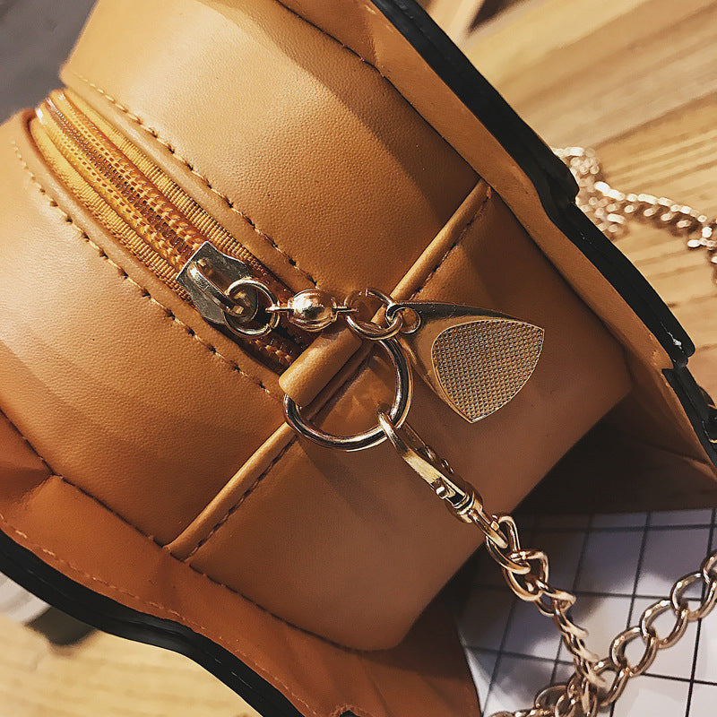 Women's Cute Mini Cartoon Ice Cream Cupcake PU Leather Bags With Small Chain