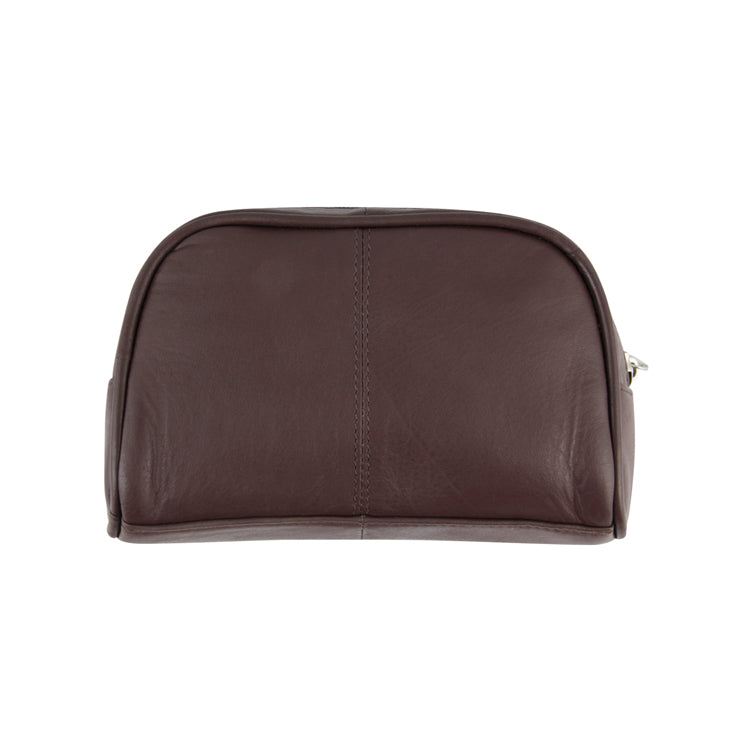 Genuine Leather Toiletry Case - Black ; Brown ; Olive ; Red ; Tan