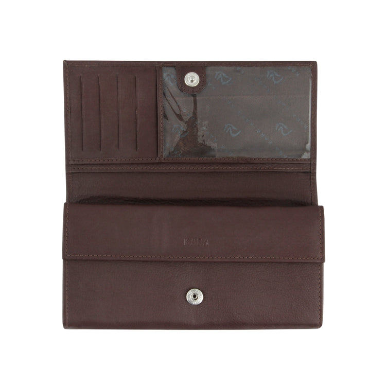 Genuine Leather Formal Wallet - Black ; Brown ; Olive ; Red ; Tan