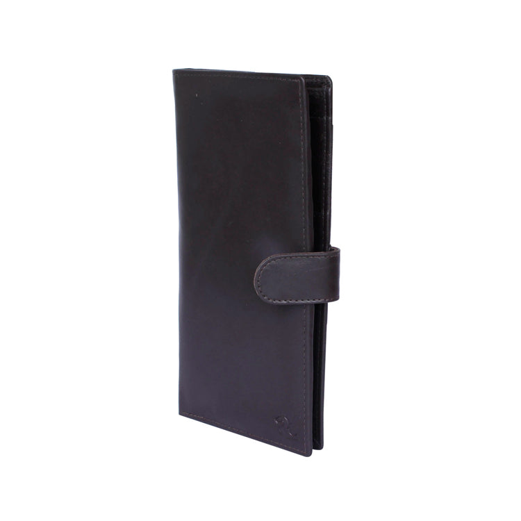 Genuine Leather Two Fold Unisex Passport Holder - Black ; Brown ; Tan