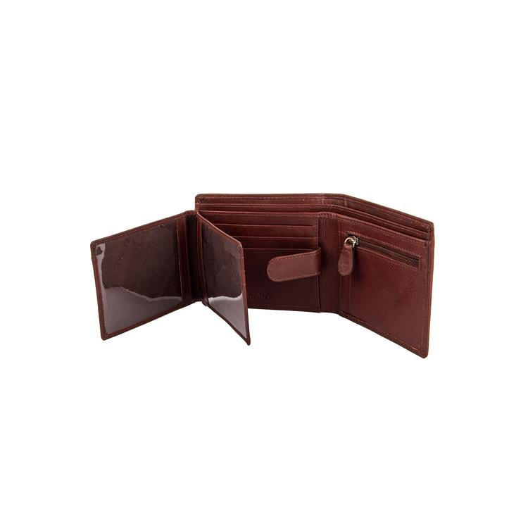 Genuine Leather Two Fold Wallet - Black ; Brown ; Tan