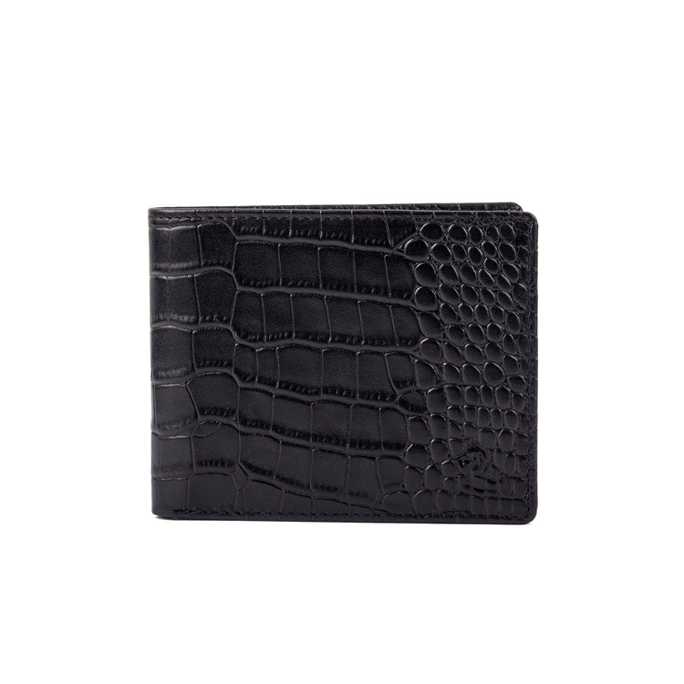 Croco Pattern Two Fold Wallet - Black ; Blue ; Maroon ; Camel ; Red
