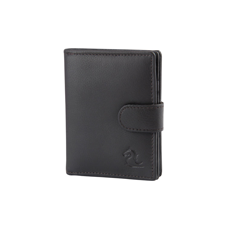 Genuine Leather Two Card Holder - Black ; Brown ; Tan