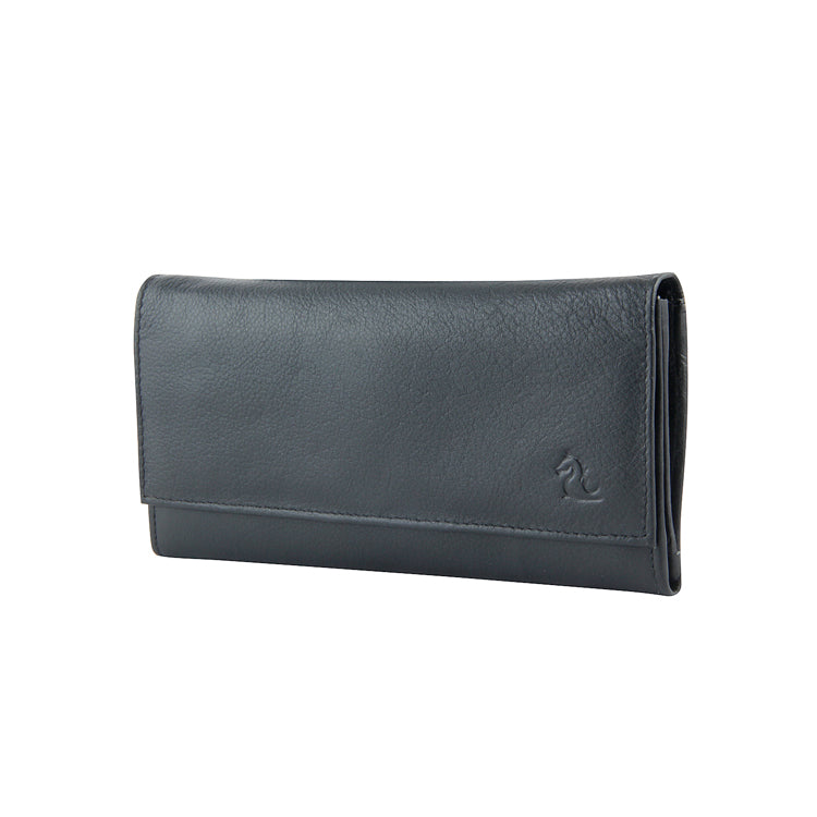 Genuine Leather Formal Wallet - Black ; Brown ; Olive ; Red