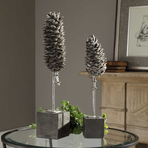 Longleaf Pine Cone Sculptures Set of Two
