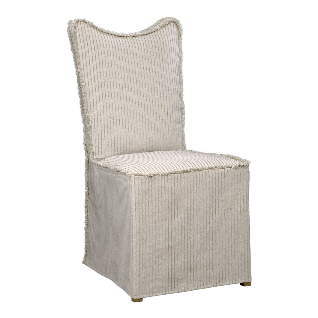 Lenore Armless Chair - Linen - Set of Two