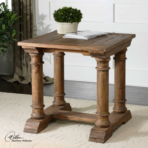 Saturia Wooden End Table